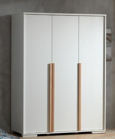Kleiderschrank London 146cm mit 3 Türen - weiß