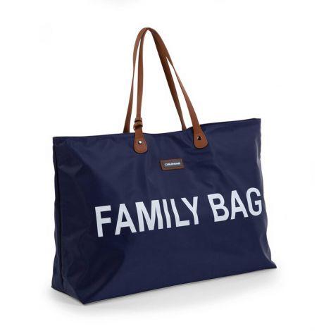 Wickeltasche Family Bag - blau/weiß
