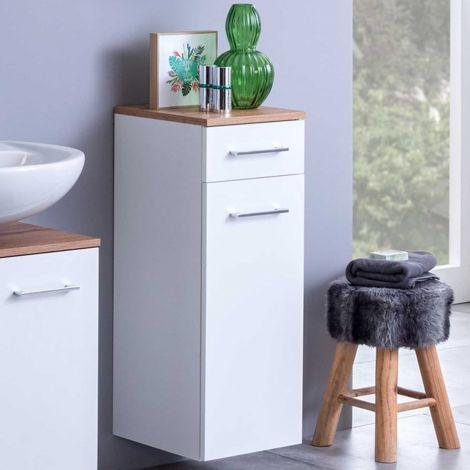 Badezimmerschrank Pares 30cm 1 Tür und 1 Schublade - weiß