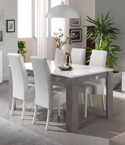 Esstisch Greta 160 cm - Beton/Weiß