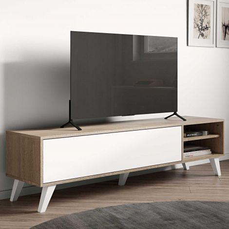 TV-Schrank Kim 165cm - Eiche/Weiß