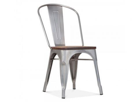 Set mit 4 Stühlen Victoria - grau