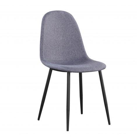 Satz von 4 Stühlen Jo - grau/schwarz