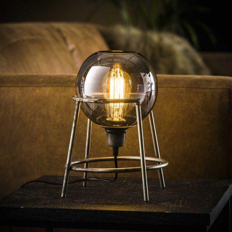 Tischlampe Unterstützung Globo - Altsilber - Alt Silber Finish