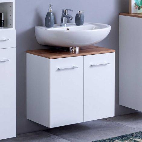 Waschbeckenschrank Pares 60cm 2 Schubladen - weiß