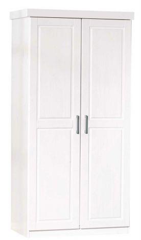 Kleiderschrank Leon mit 2 Türen - weiß
