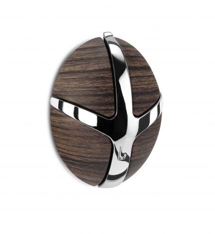 Garderobenhaken Tick - Holzdekor dunkel