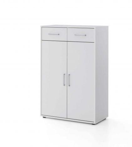 Maxi-Office-Schrank 2 Türen und 2 Schubladen - weiß