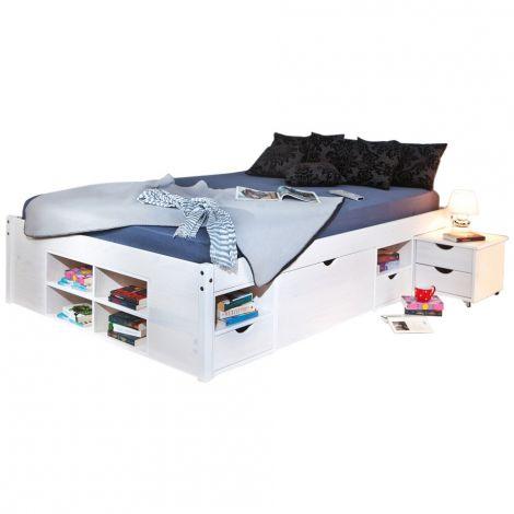 Bett Xavier 160x190cm - weiße Wäsche