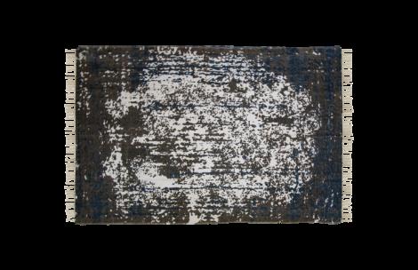Teppich - Baumwolle - 230x160 cm - türkis / beige