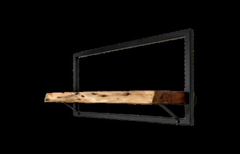 Wandregal Levels Live Edge 70x32cm Akazie/Eisen