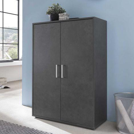 Maxi-Office-Schrank 2 Türen - graphit
