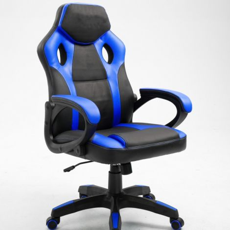Gaming-Stuhl Matt - dunkelblau/schwarz