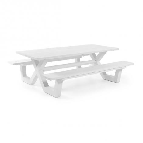 Picknick-Tisch Biabou 220x110 - weiß