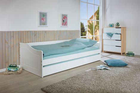 Kabinenbett Malt 90x190 - weiß
