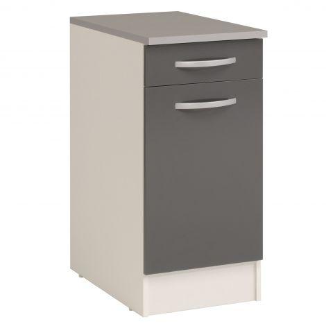 Unterschrank Eko 40x60 cm mit Schublade und Tür - grau