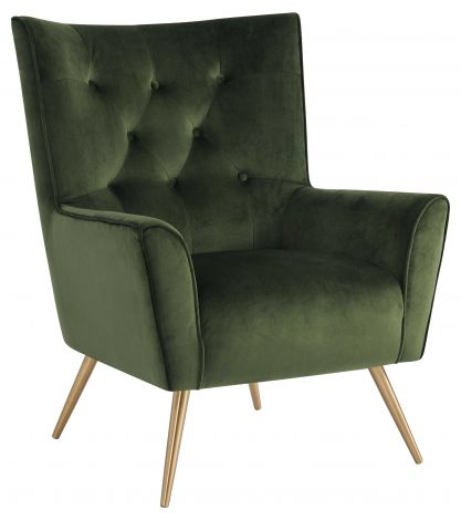 Bodiva resting chair - brass, forest green