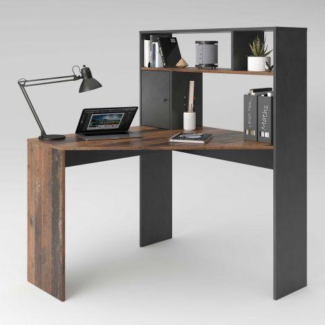 Schreibtisch Conor - verwittertes Holz/dunkel