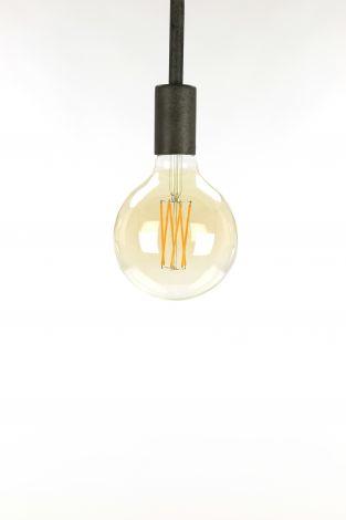 Glühlampe LED Filament Globus Ø12 5 - E27 6W 2100K 450lm dimmbar - Braunglas