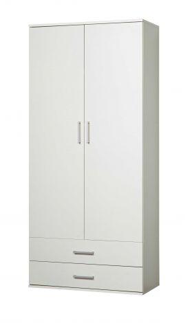 Schrank Ronny 2 Türen und 2 Schubladen - weiß