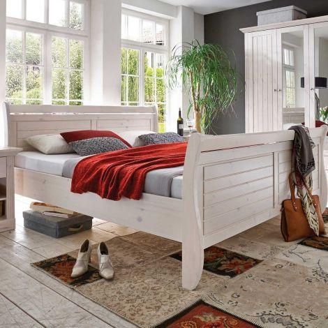 Bed MONACO 658 - 180x200 bedframe - WHITE WASH