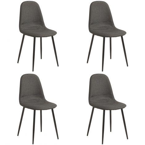 Set mit 4 Stühlen Lowie