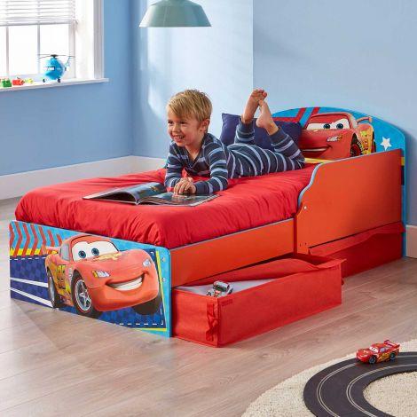 Kleinkindbett mit Schubladen Cars