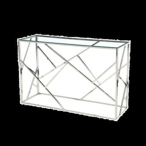 Beistelltisch Greenland 120cm - silber/glas