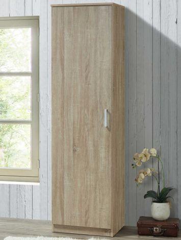 Kleiderschrank Lias 1 Tür, 42 cm tief - braun