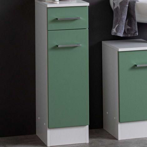 Badezimmerschrank Ricca 25cm 1 Tür und 1 Schublade - weiß/grün