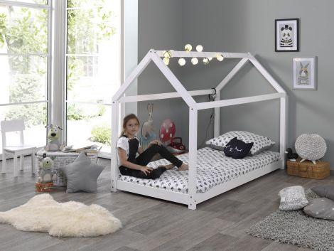 Hausbett 90x200 - weiß