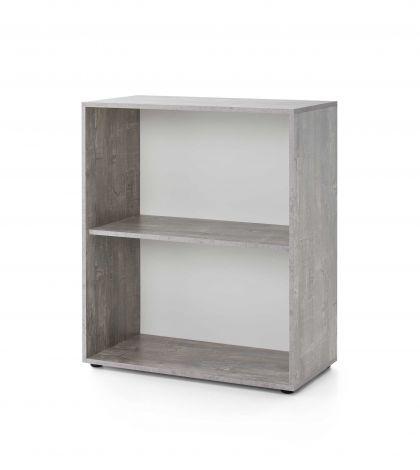Regal Maxi-office breit - Beton/Weiß