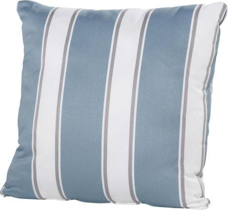 Kissen 30x30 - blau/weiß gestreift