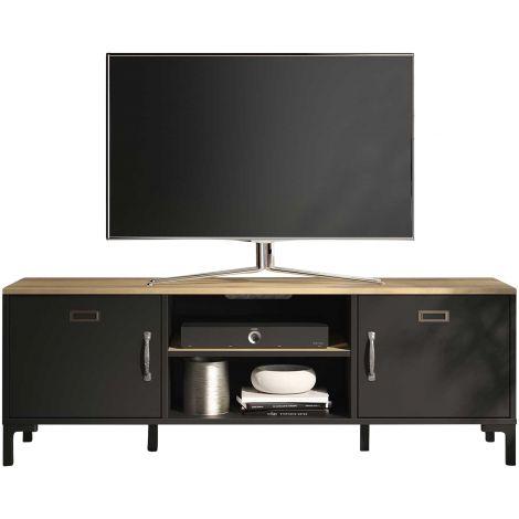 Tv-Möbel Manno 136cm Industrie - schwarz