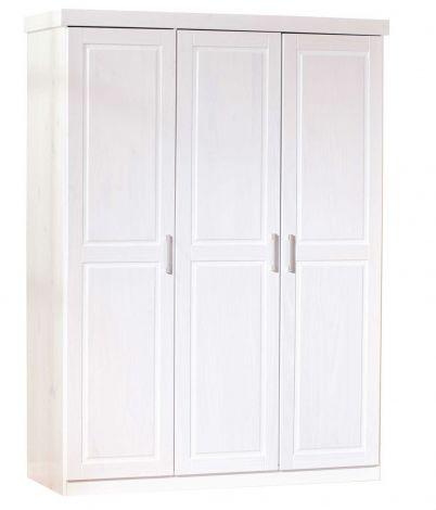 Kleiderschrank Leon mit 3 Türen - weiß