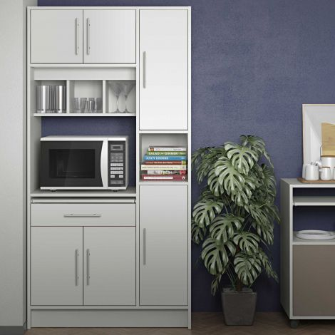 Küchenschrank Louise für Mikrowelle - weiß