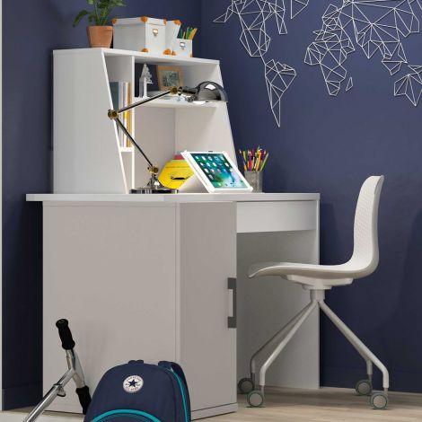 Design-Schreibtisch Hugo 88cm - mondgrau