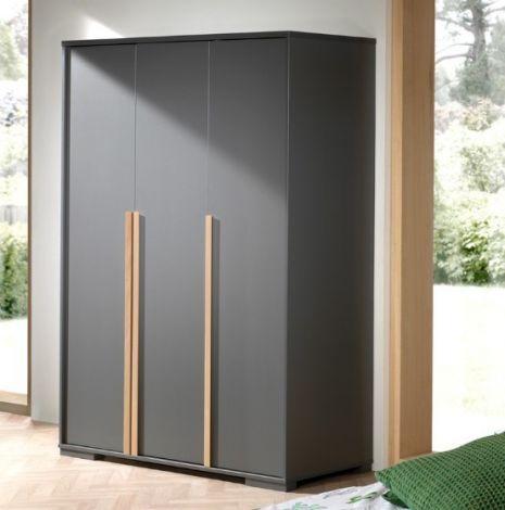 Kleiderschrank London 146cm mit 3 Türen - anthrazit