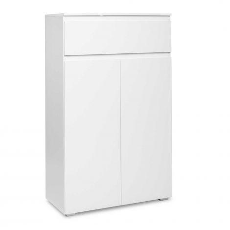 Bild 2 Türen & 1 Schubladenseitenschrank - weiß