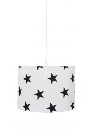 Hängelampe Stars - weiß/schwarz
