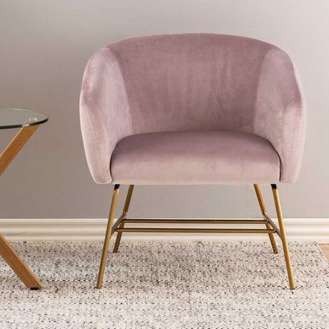 Ramsey resting chair - brass, dusty rose