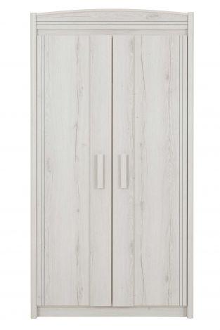 Morris Kleiderschrank 106cm mit 2 Türen - gebleichte Eiche helvezia