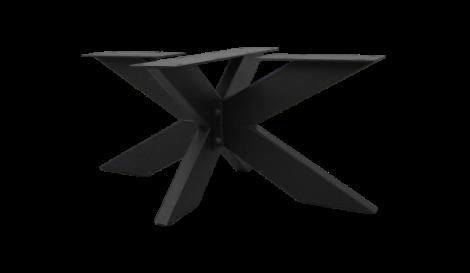 Couchtischfuß - 3D-Modell - pulverbeschichtet schwarz - Metall
