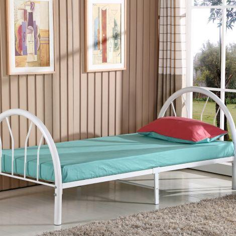 Einzelbett Cami Metall - weiß