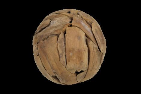 Dekorative Kugel Bamba 30cm - Teakholz