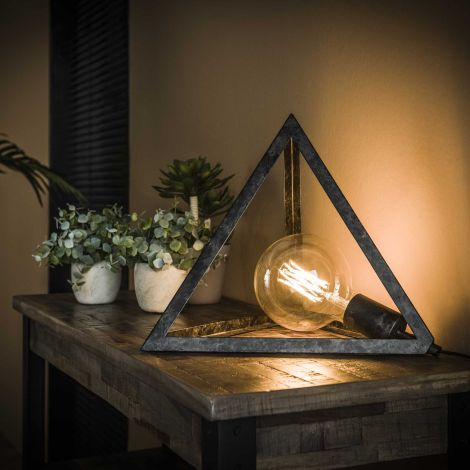 Tischlampe Pyramide - Charcoal