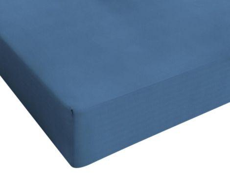 Spannbettlaken Jersey blau 80/90/100x200cm