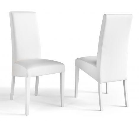 Satz von 2 Stühlen Roko - weiß
