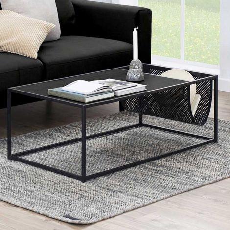Seaford coffee table - matt black, black ash