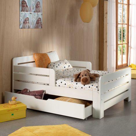 Mitwachsendes Kinderbett Jumper - weiß